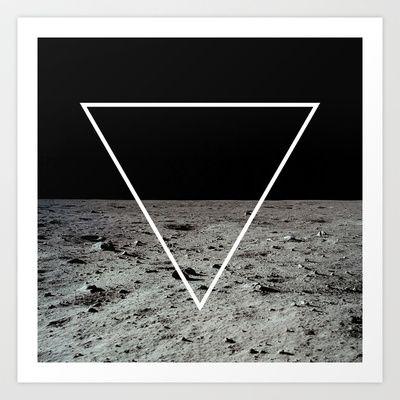 Moon Triangle Art Print by Matěj Kašpar Jirásek - $14.04