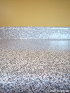Six Dollar Counter-top Transformation... Granite contact paper from Home Depot