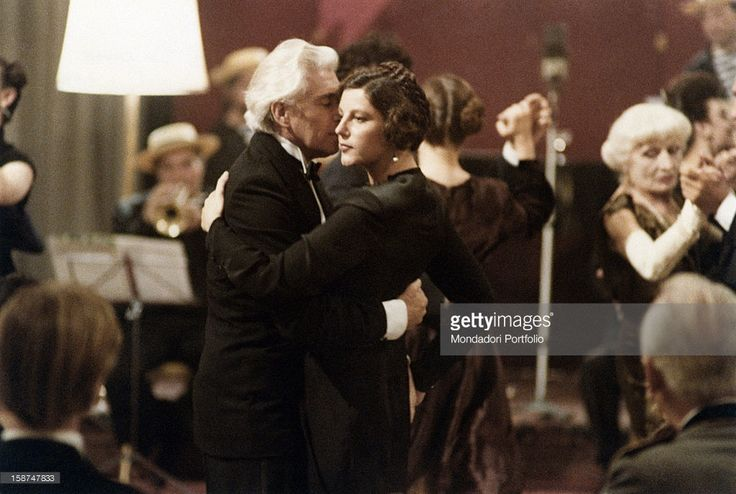British actor Frank Finlay dancing with Italian actress Stefania Sandrelli in the film The Key. 1983