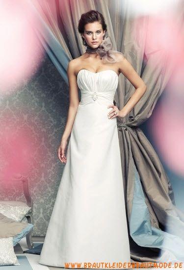 2013 Bestverkaufte Brautmode frankfurt aus Satin mit Schleppe