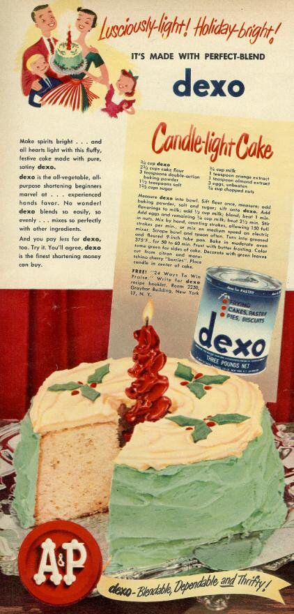 Made with Dexo! From Woman's Day, December 1950