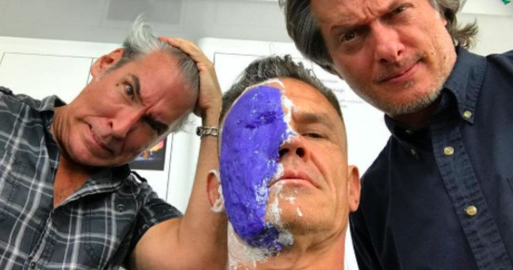 Josh Brolin's Cable Transformation Begins in Deadpool 2 -- Josh Brolin shares another behind-the-scenes photo from the makeup chair as he gets ready to play the iconic Cable in Deadpool 2. -- http://movieweb.com/deadpool-2-josh-brolin-cable-transformation-photo/