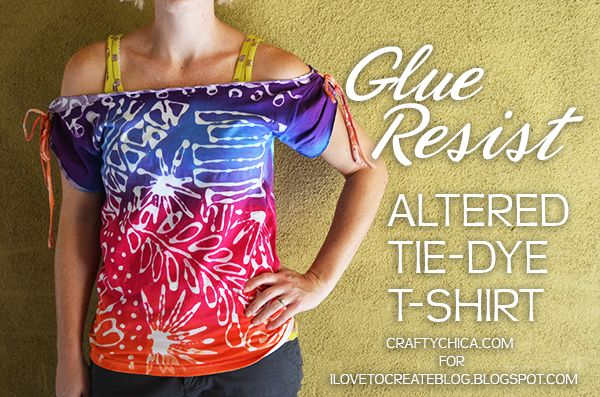 Glue-Resist Altered T-Shirt | CraftyChica.com | Official site of award-winnning artist and novelist, Kathy Cano-Murillo.