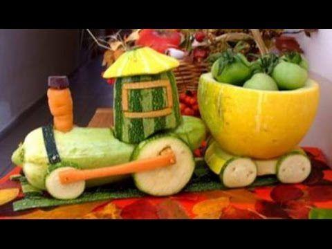 Детские поделки  Поделки из овощей и фруктов