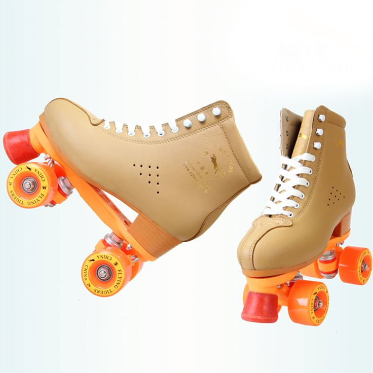Aliexpress.com : Buy NEW Adult Double Line Roller Skates Outdoor Indoor Cow Leather Quad Skating Boots Shoes BROWN from Reliable shoes italian leather suppliers on bree's happy world