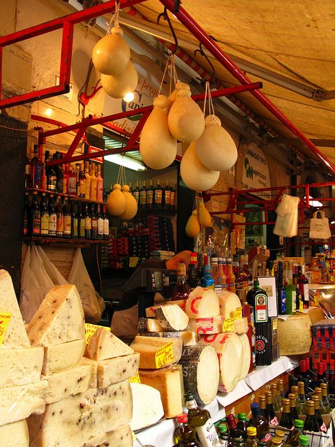Cheese market in Italy