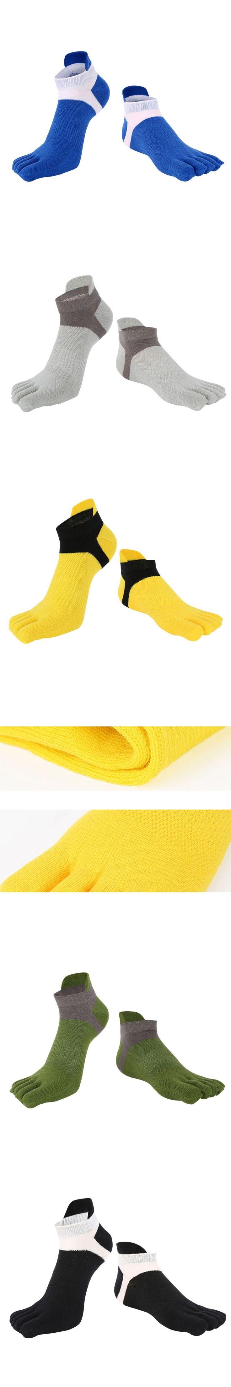 Men's Cotton Five Finger Toe Socks Deportes Short Tube Mesh Finger Meias Polyester Sock Correr Elasticity Sock New Sale