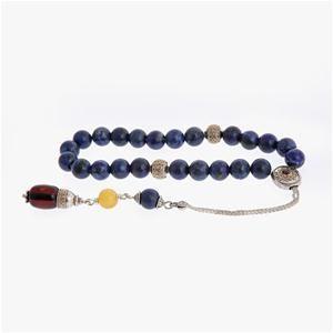 Lapis Lazuli, Amber & Garnet Gemstones Worry Beads (Komboloi) Gold Κ14 & Sterling Silver 925