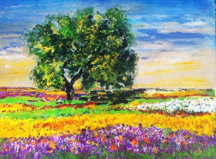 Aromas mis pinturas pinterest pinturas - Pintura acrilica pared ...