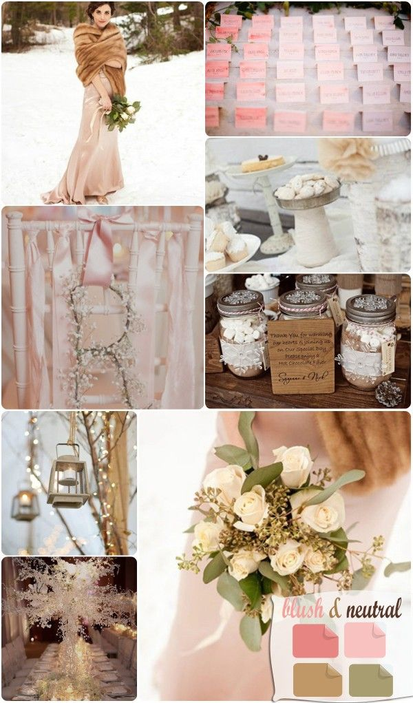 If i absolutely had to have a Winter Wedding colors this works wonderfully! Diff dress and reception but colors :) pink winter wedding color ideas