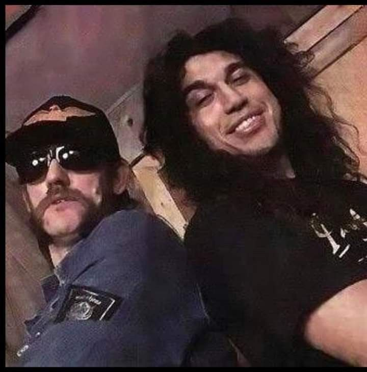 Lemmy With Tom Araya Lemmy Lemmy Kilmister Heavy Metal