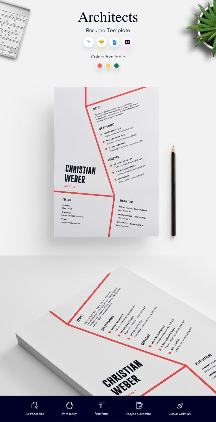 Architects Cv Resume Template Get Psd Sketch Resume Templates In 2020 Resume Template Cv Resume Template Resume Templates