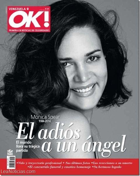 Revista OK! Venezuela rinde homenaje a Mónica Spear - http://www.leanoticias.com/2014/01/20/revista-ok-venezuela-rinde-homenaje-monica-spear/