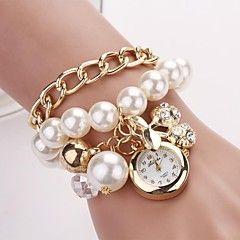 naisten pyöreä valitsin roikkua kirsikka rannekoru katsella uutta helmi sarja kellot C&d-134