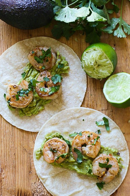 Tequila Lime Shrimp - 4 Smart Points per serving.  Add additional SP for tortillas you use.  Enjoy!!