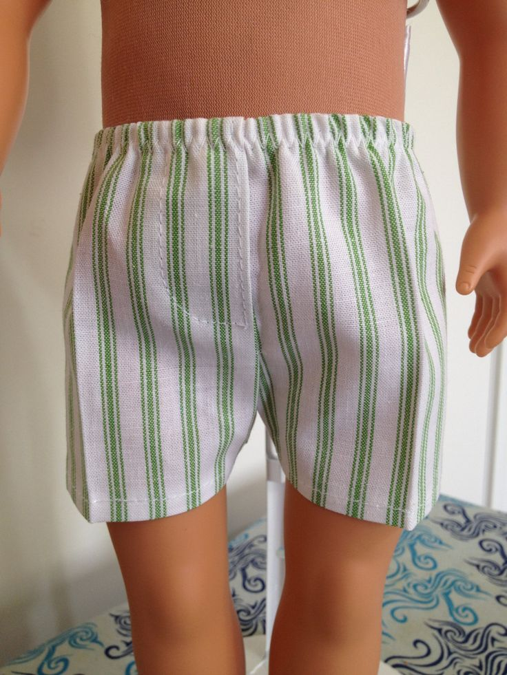 Cotton boxer shorts for 18in boy or girl dolls by TangledKat on Etsy