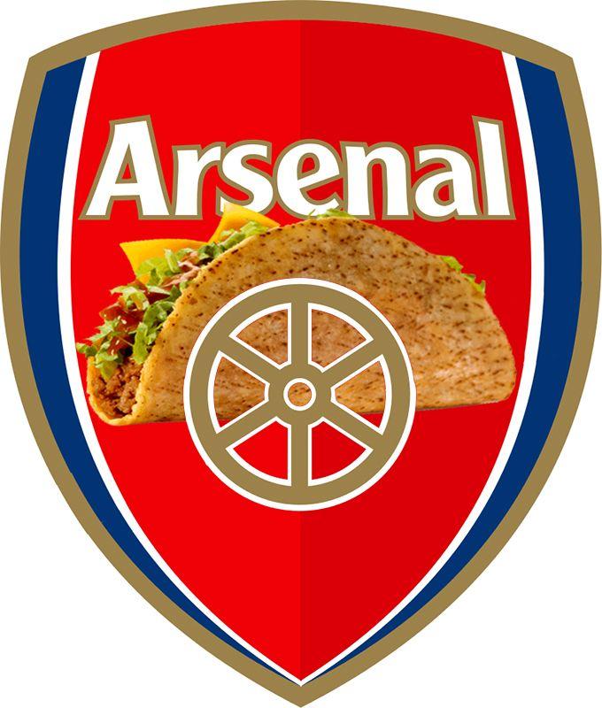 Arsenal Football Taco. #gunners #arsenal #afc #arsenalfc # ...