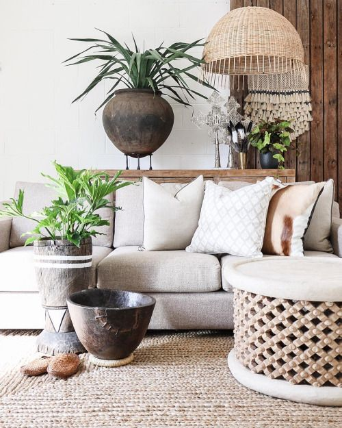 Village - Wild Calling The harmony of this space is well balanced with earthy-neutral tones, fabrics & textures. Using oversized feature pieces always creates impact to a room. Featured: Hudson 3 Seater Sofa, Clay Pot, Barbados Pendant & Bamileke Table. Explore our products online & in stores today. Showrooms: Bundall & Burleigh Online: www.villagestores.com.au (at Village Stores)