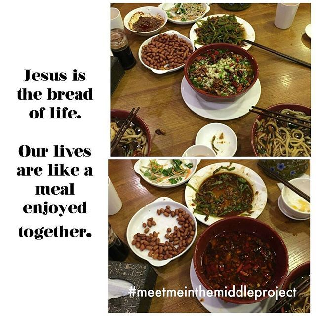 """Each Thursday during Lent I am participating in the Meet Me In the Middle project with @brittalafont to prepare my heart for Easter. God takes our hungry """"Before"""", and works in our communities to make a beautiful meal, the """"After"""" of being satisfied. Imagine what He is doing in the Middle of it all! #MeetMeInTheMiddleProj #MMITMP#Lent #LentenCuration #BeforeAndAfter #Chinesefood"""