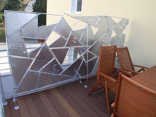 Fancy Wind und Sichtschutz aus plasmagetrenntem Stahl