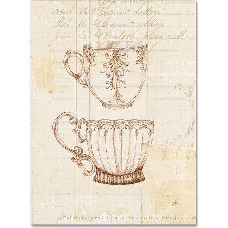 Trademark Fine Art Authentic Coffee IV Canvas Art by Daphne Brissonnet, Size: 35 x 47, Bronze
