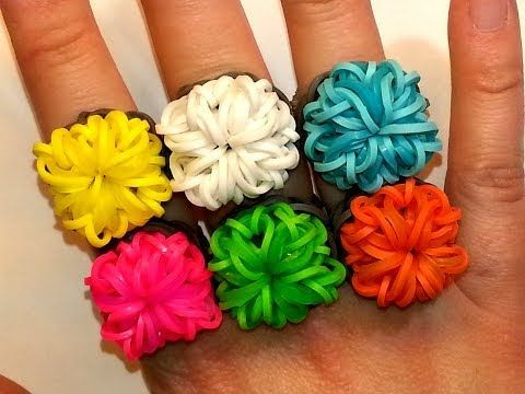 Rainbow Loom SQUARE BLING Ring. Designed and loomed by Ellen Carpenter at feelinspiffy. Click photo for YouTube tutoiral. 05/23/14.