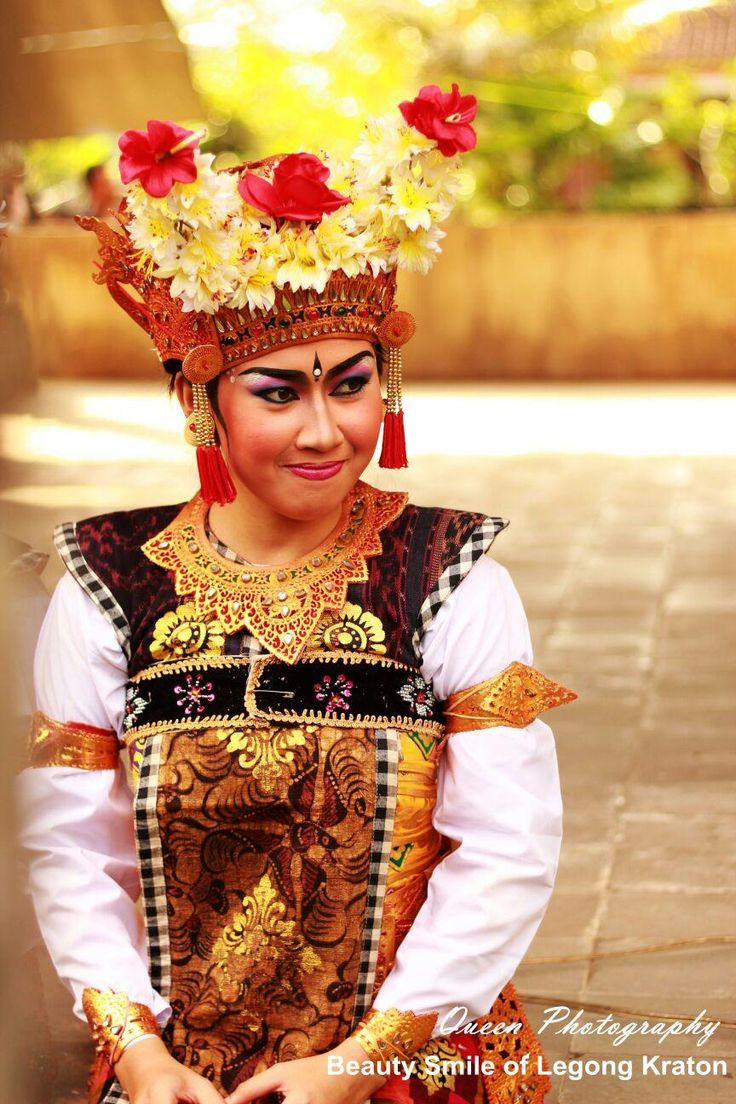Beauty smile of Legong Kraton