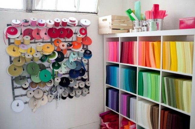 16 Inspiring Ideas for Organizing Your Craft Room via Brit + Co.
