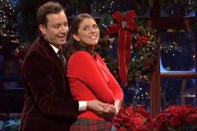 """""""Baby it's Cold Outside"""" Jimmy Fallon and Cecily Strong"""