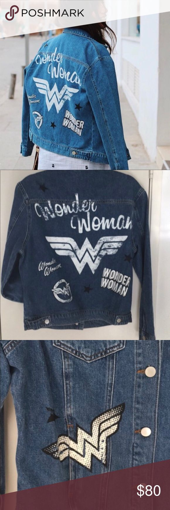 Wonder Woman denim jacket NWT Primark Wonder Woman rare denim jean jacket, new with tags   MEDIUM primark Jackets & Coats Jean Jackets