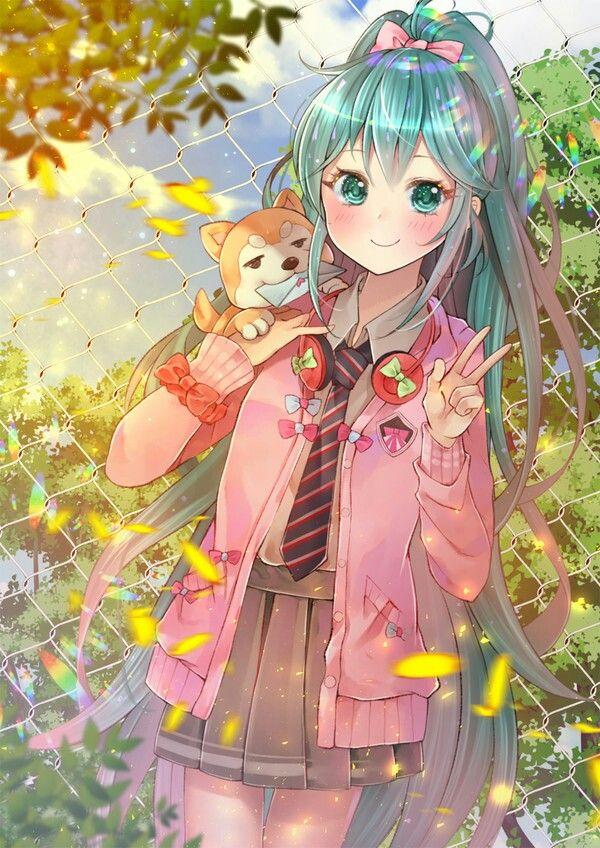 Miku Pet Dog Hatsune Miku Kawaii Anime Cute Anime Character