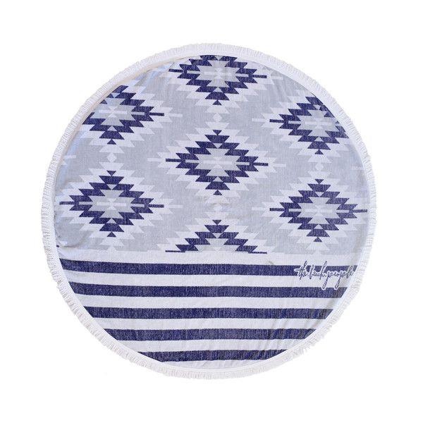 the beach people round towel montauk pattern