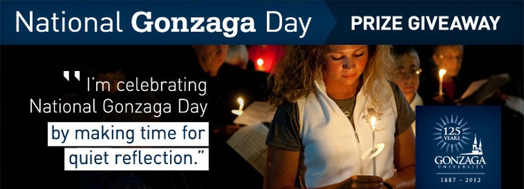 How will you celebrate National Gonzaga Day? Tell us how you're celebrating and enter for a chance to win a Grand Prize of an iPad mini, two men's basketball tickets, and an overnight stay in Spokane courtesy Red Lion Hotels. http://www.gonzaga.edu/beinspired/125/events/ngd-prize-giveaway.asp