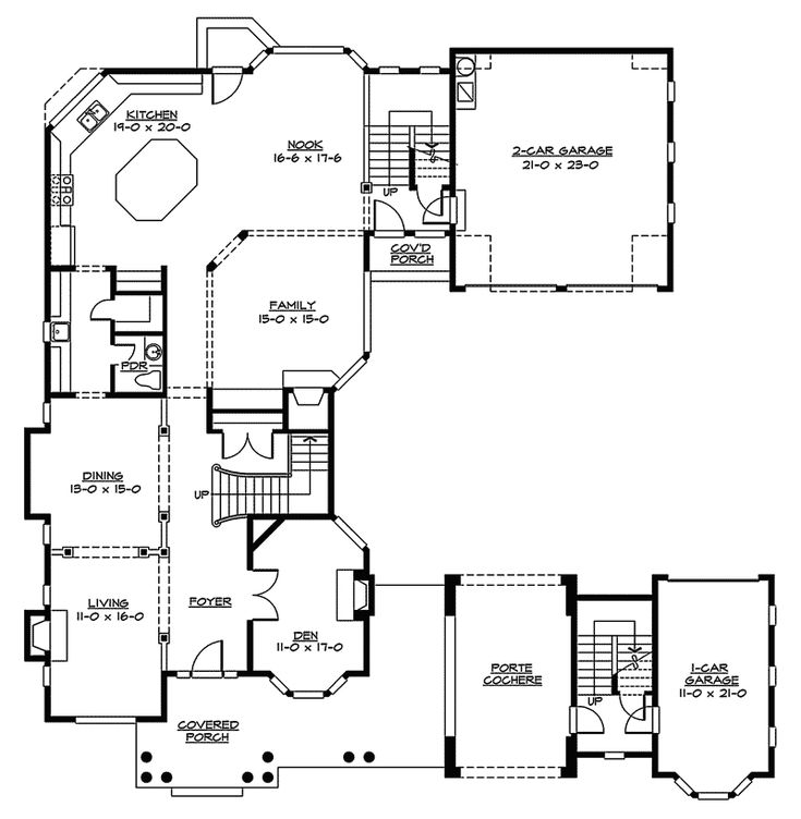20 best images about u shaped house plans on pinterest for U shaped home with unique floor plan
