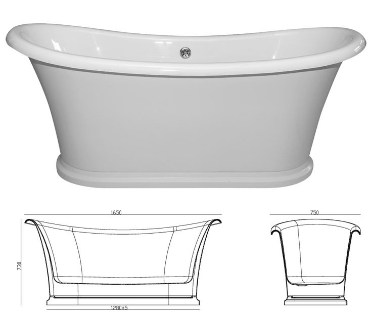 Ensuite // Veneto Bath BT 1675A Freestanding Acrylic Tub