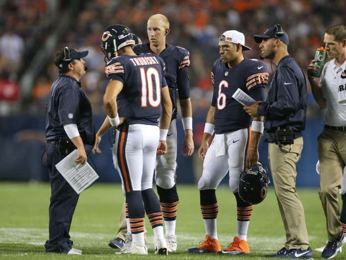 NFL Week 1 power rankings - September 5, 2017:  30. Chicago Bears (29): Mike Glennon had a rocky start to the preseason, but John Fox appears unmoved by calls for No. 2 pick Mitchell Trubisky to start under center. More foreboding is the loss of top WR Cameron Meredith.