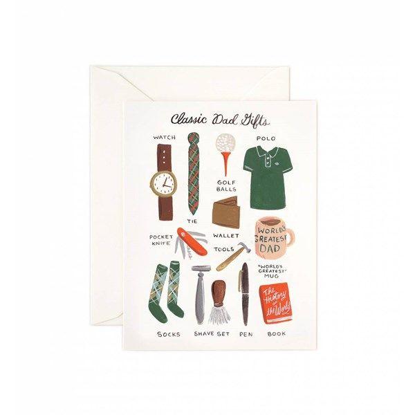 Gratulationskort med Kuvert Fars Dag A5 Classic Dad Gifts 1 st