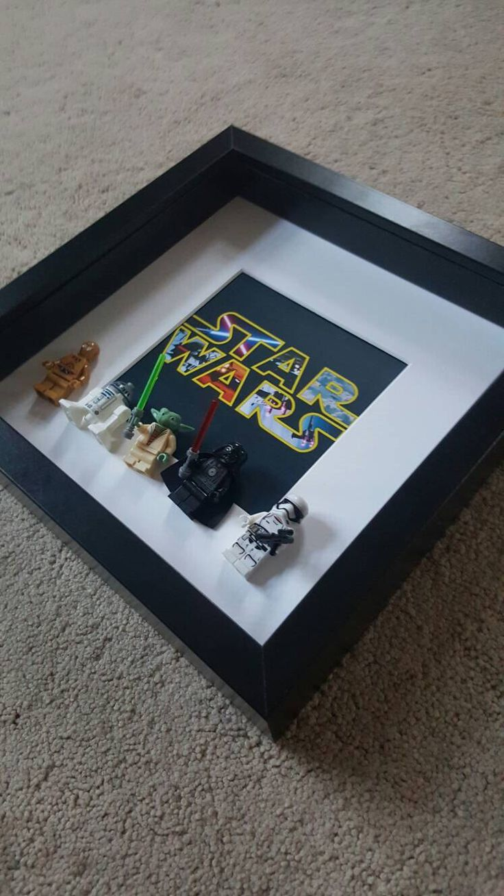 Darth Vader Stormtrooper Yoda C3PO R2D2 Star Wars Lego Minifigures 3D Frame custom made to order Brick Figure Art, Framed Gift by Brickboxgifts on Etsy https://www.etsy.com/listing/465375736/darth-vader-stormtrooper-yoda-c3po-r2d2