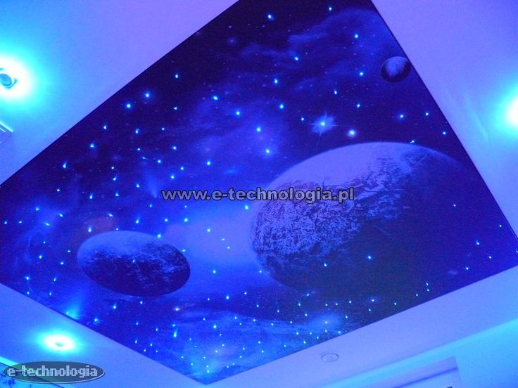 Starry sky on the ceiling clamping of the printed galaxy. Starry sky on the ceiling is a common idea to decorate light rooms, living rooms, bedrooms, kitchens and other interiors. Eye-catching, bright stars on the ceiling, changing its color or glowing steady, able to amaze with its charm. Starry sky on the ceiling clamping can be created using a set of economic, exclusive, or space, creating a dream of his constellation in the sky.  www.e-technologia.pl