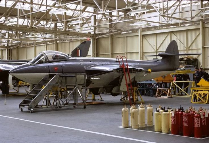 Sea Hawk FGA.6 at No 1 School of Technical Training at RAF Halton Workshops 1971