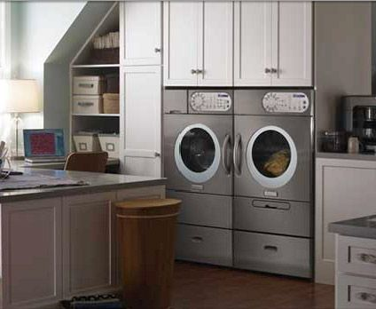 washer and dryer in kitchen laundry rooms pinterest