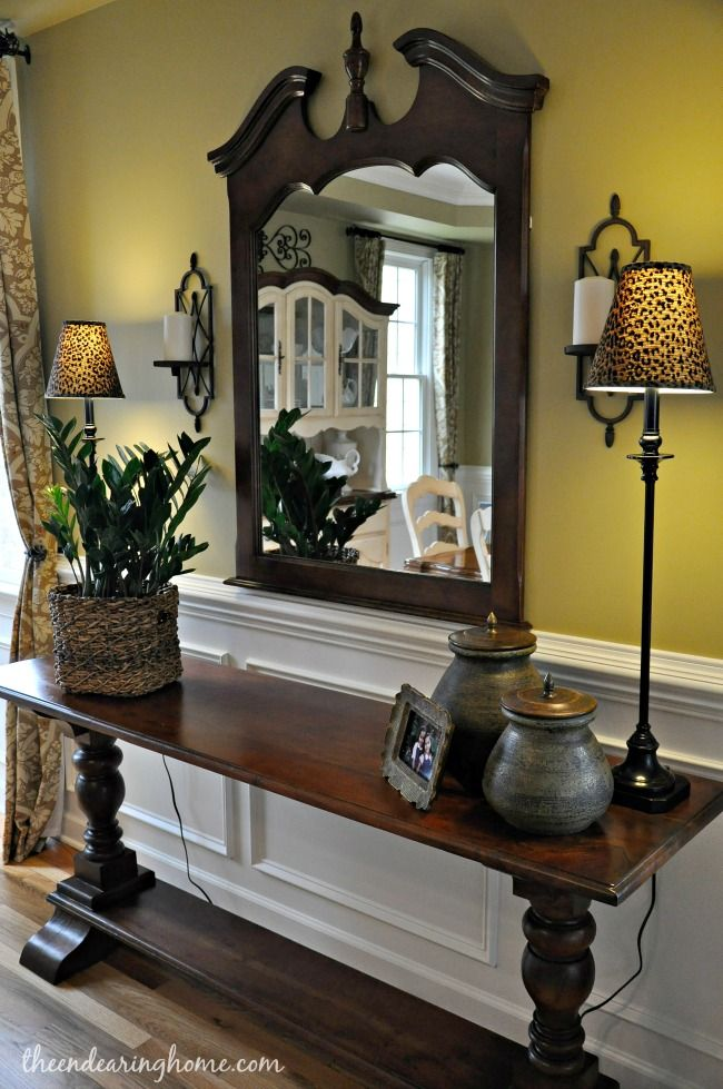 Updated Dining Room Tour Paint Color Carolina Inn Brass Lamp Shades Bal