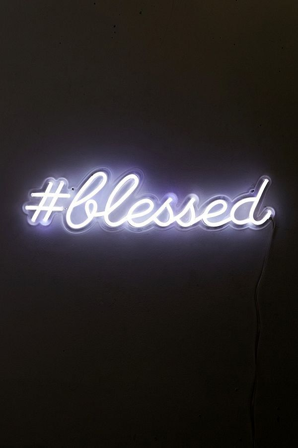 The Oliver Gal Artist Co Blessed Led Neon Sign Neon Signs Quotes Led Neon Signs Neon Quotes