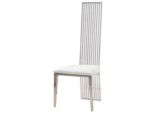 Eloi stol i hvitt skinn