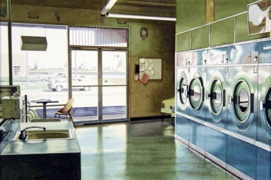 """Laundry Interior"" Ralph Goings"