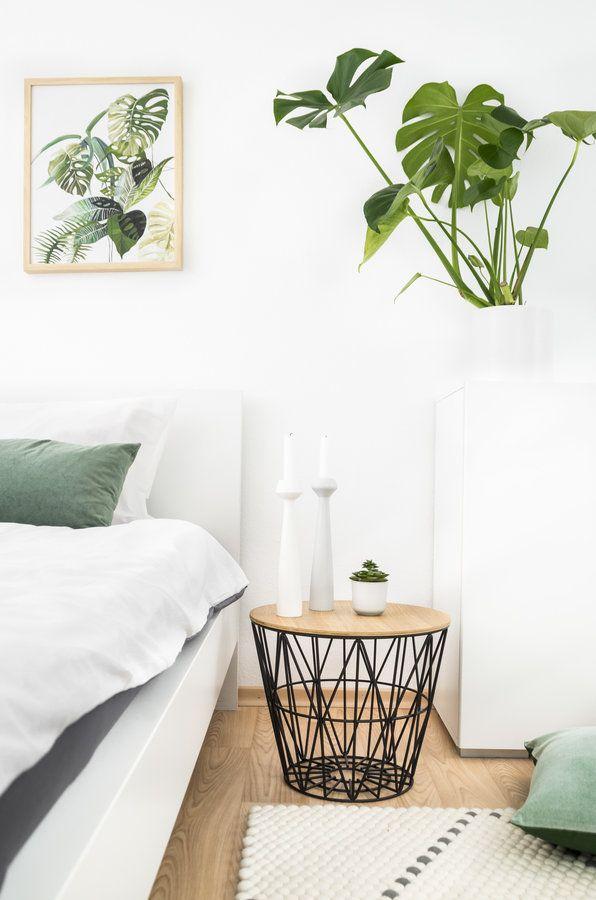 Greenery im Schlafzimmer