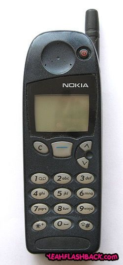 My first cell phone. Not only could you change the cover.. You could change the buttons too!! Mine had a white cover with purple buttons. lol!