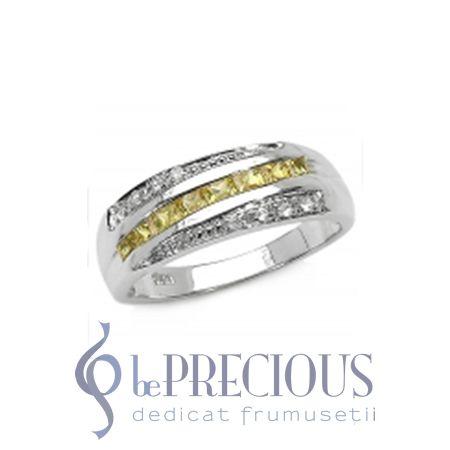 Inel cu Safire galbene si Diamante Temptation