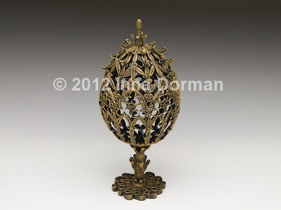 Paper filigree Easter egg Gothic Architecture. Collectible, one of a kind.