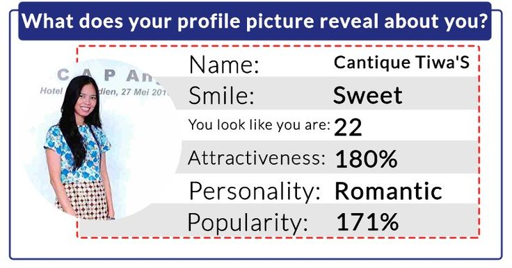 What does your profile picture reveal about you?